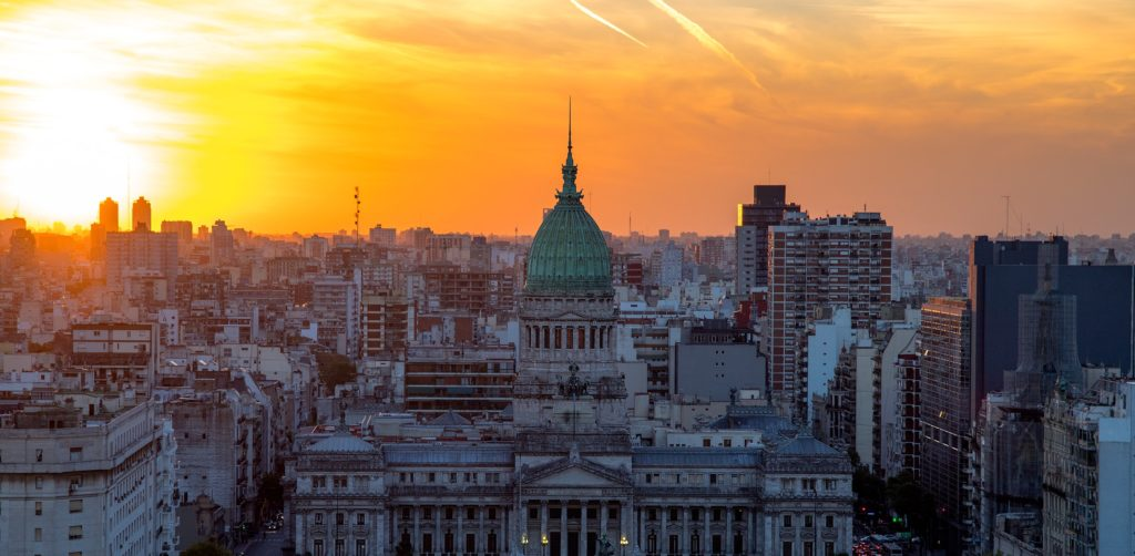 Buenos Aires at sunset